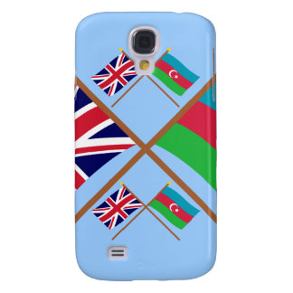 UK and Azerbaijan Crossed Flags Galaxy S4 Case
