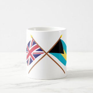 UK and Bahamas Crossed Flags Coffee Mug