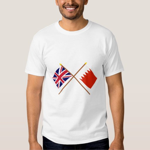 UK and Bahrain Crossed Flags Shirts
