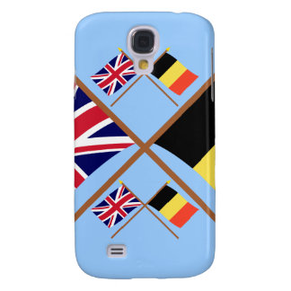 UK and Belgium Crossed Flags Samsung Galaxy S4 Cover