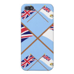 UK and British Antarctic Territory Crossed Flags Covers For iPhone 5