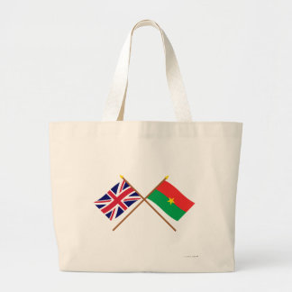 UK and Burkina Faso Crossed Flags Bags