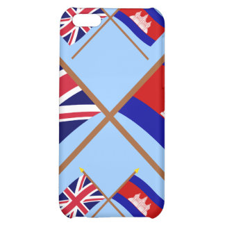 UK and Cambodia Crossed Flags Cover For iPhone 5C