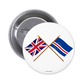 UK and Cape Verde Crossed Flags Buttons