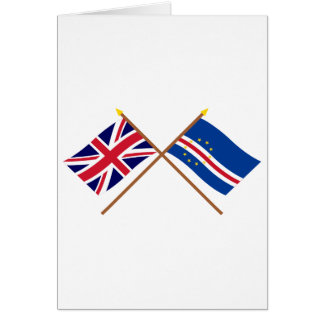 UK and Cape Verde Crossed Flags Card