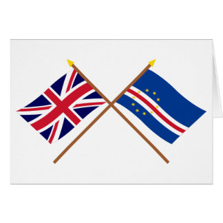 UK and Cape Verde Crossed Flags Greeting Cards
