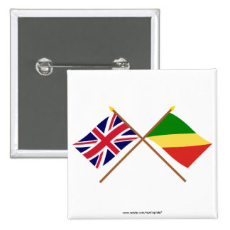 UK and Congo Republic Crossed Flags Pins