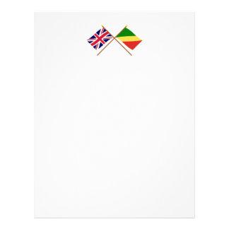 UK and Congo Republic Crossed Flags Letterhead Design