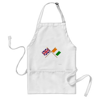 UK and Cote d Ivoire Crossed Flags Apron