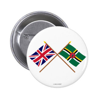 UK and Dominica Crossed Flags Pin