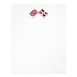 UK and Dominican Republic Crossed Flags Letterhead