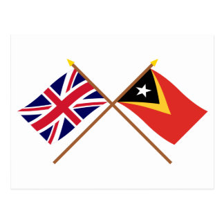 UK and East Timor Crossed Flags Postcard