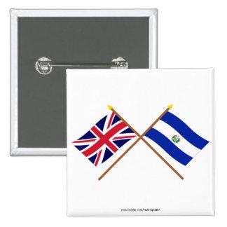UK and El Salvador Crossed Flags Pins