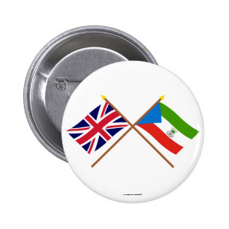UK and Equatorial Guinea Crossed Flags Pin