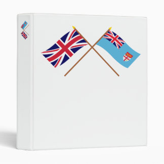 UK and Fiji Crossed Flags Binders