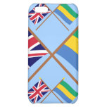 UK and Gabon Crossed Flags iPhone 5C Cover