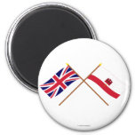 UK and Gibraltar Crossed Flags Fridge Magnets