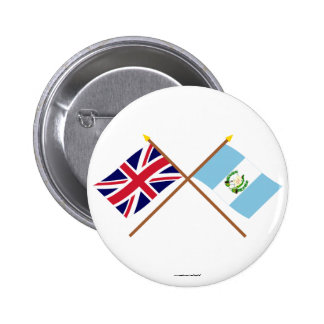 UK and Guatemala Crossed Flags Pins