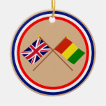 UK and Guinea Crossed Flags Ornaments
