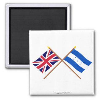 UK and Honduras Crossed Flags Magnets