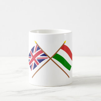 UK and Hungary Crossed Flags Coffee Mug