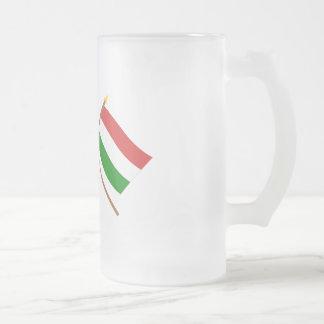UK and Hungary Crossed Flags Coffee Mugs