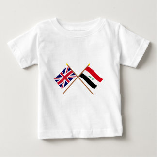 UK and Iraq Crossed Flags Baby T-Shirt