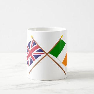 UK and Ireland Crossed Flags Classic White Coffee Mug