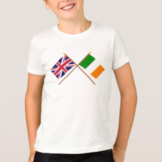 UK and Ireland Crossed Flags T-Shirt