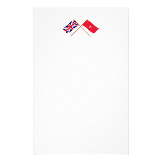 UK and Isle of Man Crossed Flags Stationery