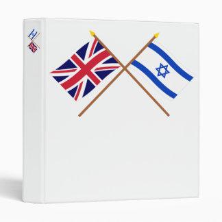UK and Israel Crossed Flags Binders