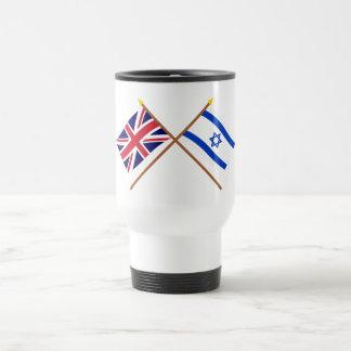 UK and Israel Crossed Flags Mug