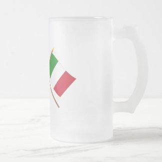 UK and Italy Crossed Flags Mug