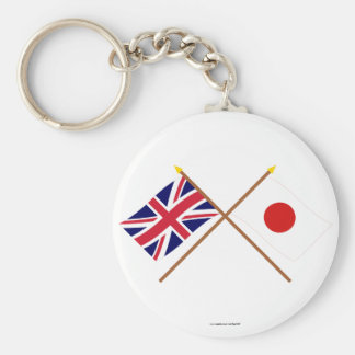 UK and Japan Crossed Flags Keychain