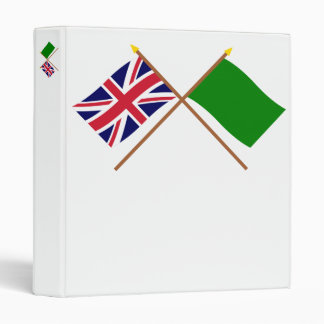 UK and Libya Crossed Flags Binder
