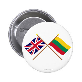 UK and Lithuania Crossed Flags Pin