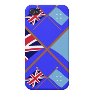 UK and Micronesia Crossed Flags iPhone 4 Cover