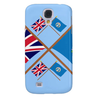 UK and Northern Marianas Crossed Flags Samsung S4 Case