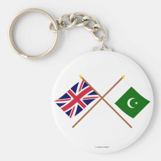 UK and Pakistan Crossed Flags Keychain