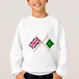 UK and Pakistan Crossed Flags Sweatshirt