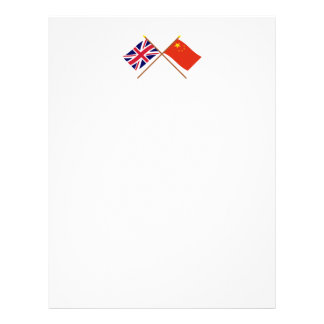 UK and People's Republic of China Crossed Flags Letterhead