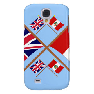 UK and Peru Crossed Flags Galaxy S4 Case
