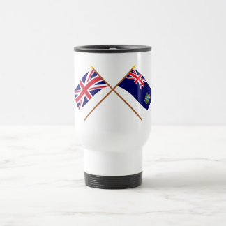 UK and Pitcairn Islands Crossed Flags Travel Mug