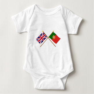 UK and Portugal Crossed Flags T-shirt