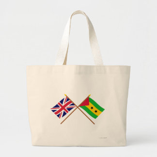UK and Sao Tome & Principe Crossed Flags Bags