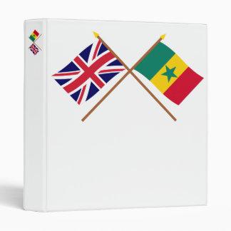 UK and Senegal Crossed Flags Vinyl Binders
