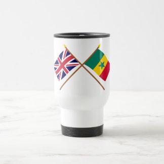 UK and Senegal Crossed Flags Mug