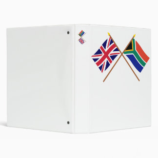 UK and South Africa Crossed Flags Binder