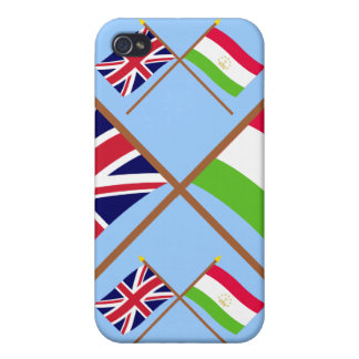 UK and Tajikistan Crossed Flags Case For iPhone 4