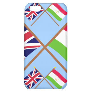 UK and Tajikistan Crossed Flags Cover For iPhone 5C